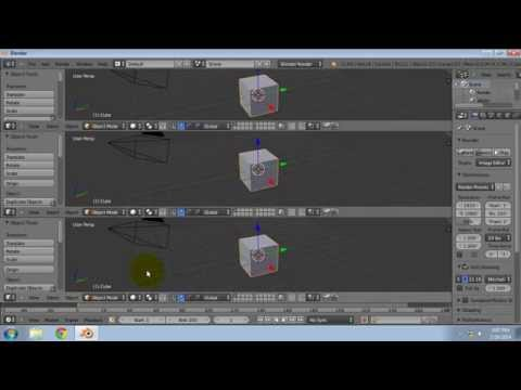 Splitting a window frame in Blender