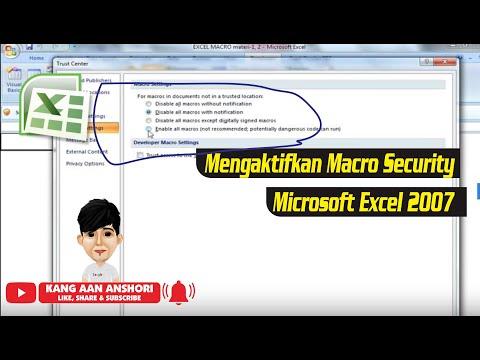 Cara Mengaktifkan Macro Security Di Microsoft Excel 2007