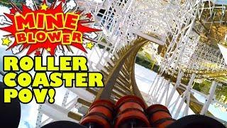 Mine Blower Roller Coaster Front Seat POV Fun Spot America Orlando New 2017