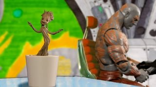 Dancing Baby Groot Stop Motion ᴴᴰ