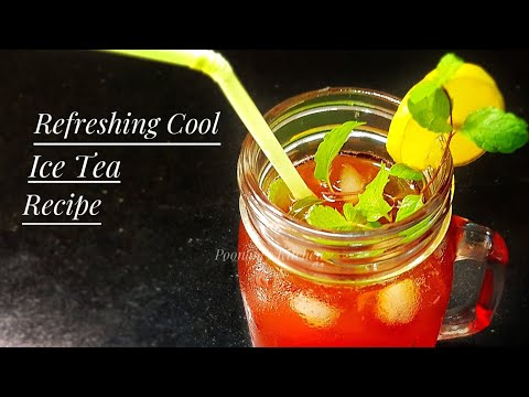 Refreshing Cool Summer Beverage Recipe - Strawberry Iced Tea Recipe - How to make Iced Tea