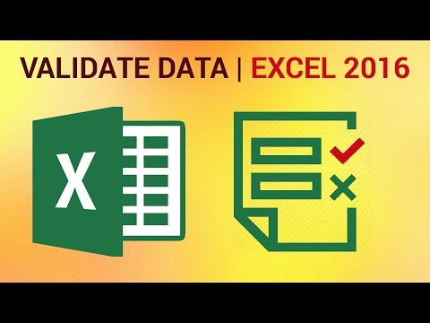 How to Validate Data in Excel 2016 - How to Set Restrictions to Entered Values