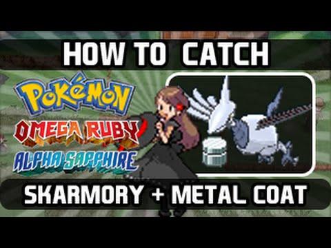 Pokemon Omega Ruby / Alpha Sapphire - How To Catch: Skarmory [Metal Coat Farming]