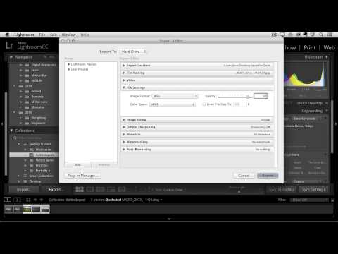 Lightroom CC -  Exporting Images