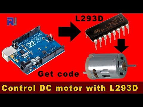 Introduction to L293D and Controlling DC Motor (without stepper)