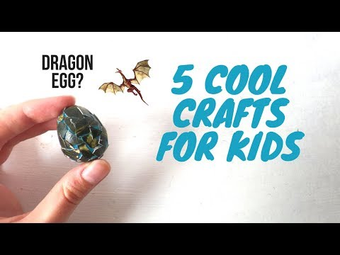 Cool Crafts to Make with Kids using Household Items | DIY Craft Ideas for Boys and Girls