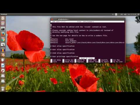 Execute terminal commands on ubuntu or linux without sudo password