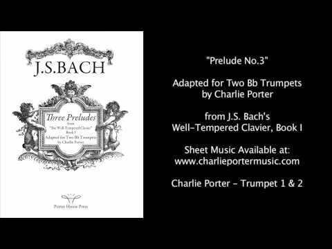 Prelude No.3 from Bach's Well-Tempered Clavier, Book I for Two Bb Trumpets