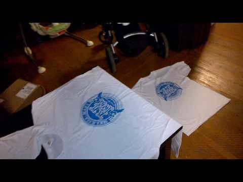 Hacking  our house to do screen printing of Family reunion t-shirts