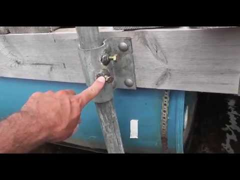 How to stabilize a floating dock