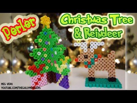 Perler Bead 3D Christmas Tree and 3D Reindeer Tutorial
