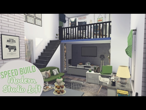 MODERN STUDIO LOFT   The Sims 4 Speed Build