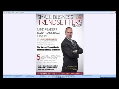 Creating magazine cover article for back of cover using article template