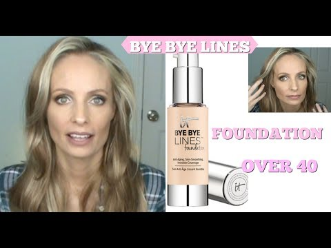 IT COSMETICS BYE BYE LINES REVIEW   FOUNDATION FOR MATURE SKIN