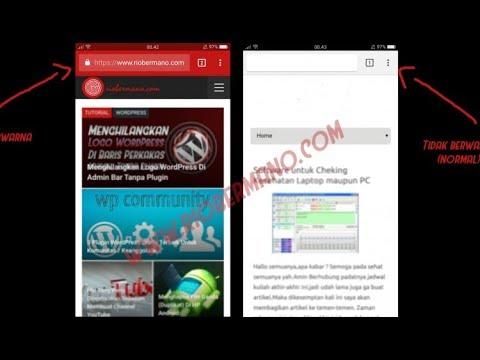 Membuat Warna Kustom Toolbar Tab Browser Website Berwarna di Chrome & Opera - android Meta Color