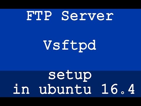 FTP Server Vsftpd in ubuntu 16.4