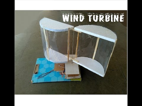 How to make wind turbine - cool science project