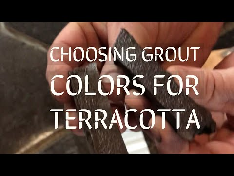 CHOOSING THE RIGHT GROUT COLOR FOR STAINED TERRACOTTA TILES | Custom Staining Color Match