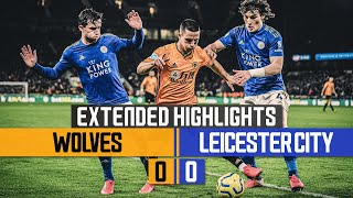 Willy Boly's goal chalked off by VAR | Wolves 0-0 Leicester | Extended highlights