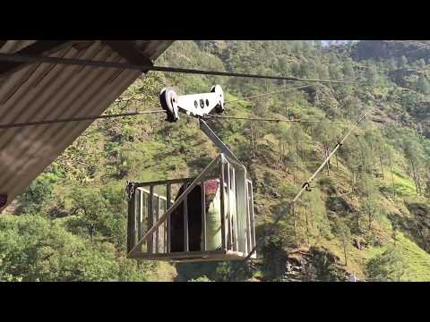 Gravity Goods Ropeway in action