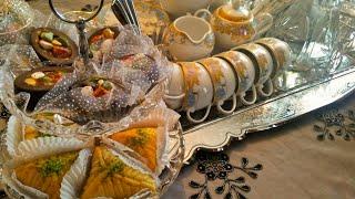 #x202b;مائدة العيد جزائرية من مطبخ كريمة تهنئ كل الأمة الإسلامية بحلول عيد الفطر المبارك Table De La Fête#x202c;lrm;