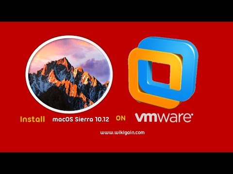 How to install install Mac OS Sierra onto a virtual machine on windows