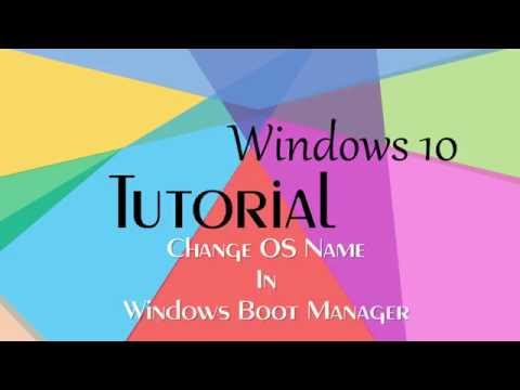 Windows 10 Tutorial#How to Change Operating System Name#publish by Computer House