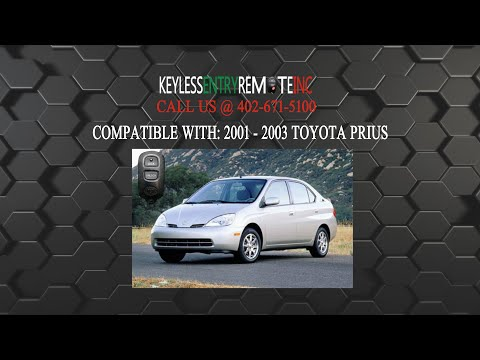 How To Replace Toyota Prius Key Fob Battery 2001 2003