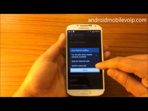 SIP Internet Calling and VoIP on Galaxy S4