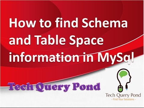 How to find Schema and Table Space information in MySql