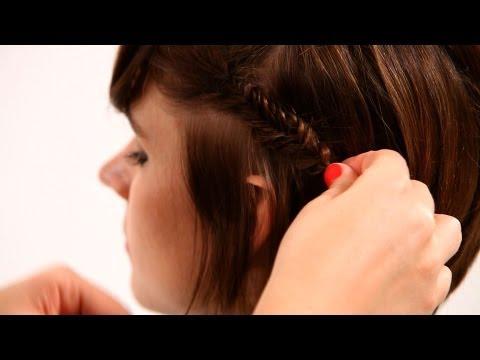 How to Fishtail Braid Short Hair, Pt. 2 | Short Hairstyles