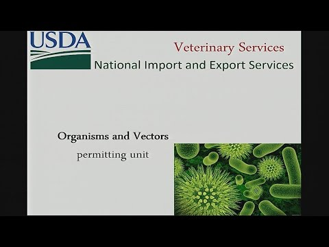 USDA Veterinary Services Organisms and Vectors Permitting