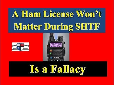 SHTF Survivalism - Ham License Won't Matter when SHTF is a Fallacy