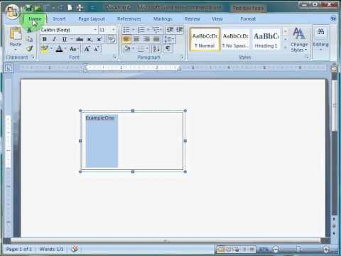 Creating a Text Box in Microsoft Word