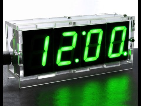 DIY 4 Digit LED Clock Kit With Temperature | Unboxing and Assembling # 1