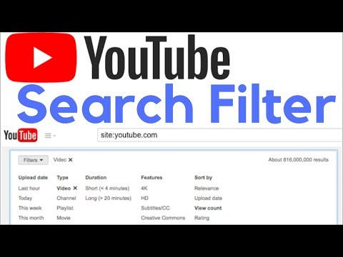 YouTube Search Filter. Category Search   Sort By Upload Date , View Count , Month etc.