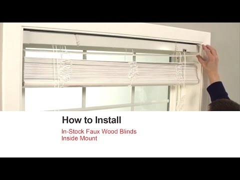Bali Blinds | How to Install In-Stock Faux Wood blinds - Inside Mount
