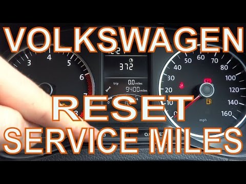 Reset Mileage Counter on VW Polo. Adjust the Service Interval Miles.