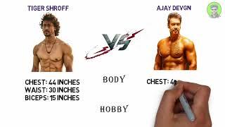 ajay devgn vs tiger shroff (biography , filmography , soacial media , net worth)