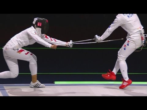 China win Gold in Women's Fencing Team Epee - London 2012 Olympics