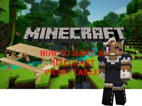 👀 Minecraft: How to make a Picnic Table