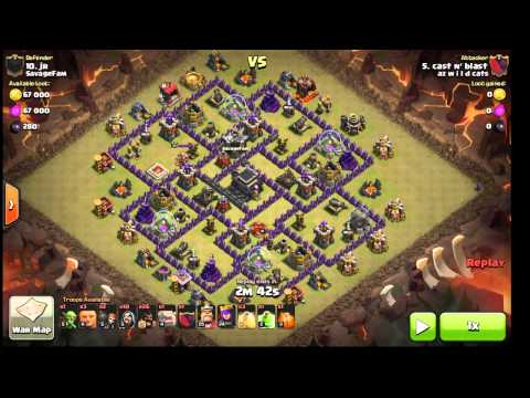 Shattered Goho. Surgical Hogs. Max TH9. With Poison Spell. Clan War