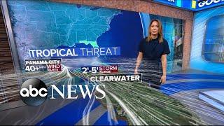 Tropical storm barrels toward Florida l ABC News
