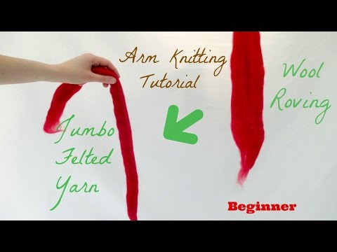How To Make Giant Yarn For Arm Knitting (the FAST WAY)