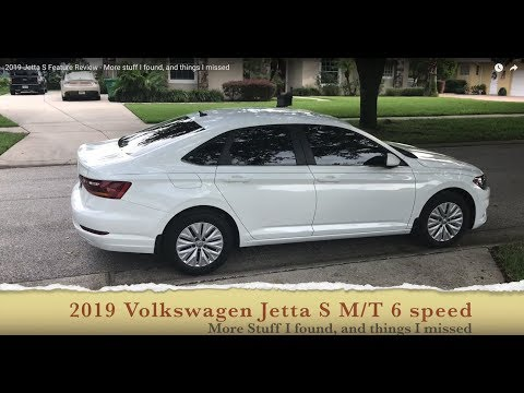 2019 Jetta S Feature Review - More stuff I found, and things I missed