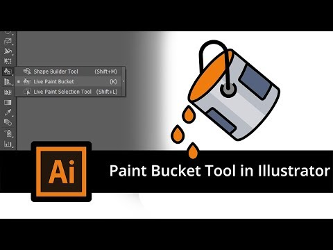 Illustrator Tutorial - How To Use The Live Paint Bucket Tool