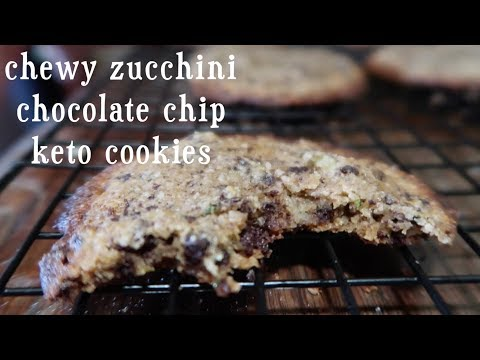 Chewy Zucchini Chocolate Chip Keto Cookies   kid friendly   grain free   low carb   ketogenic recipe