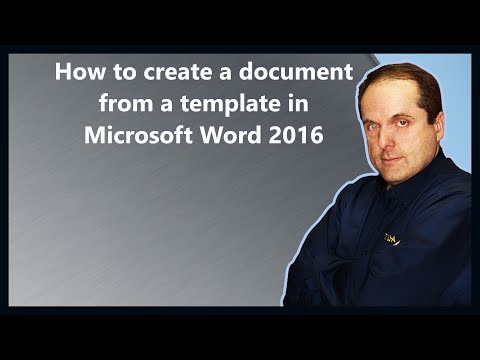 How to create a document from a template in Microsoft Word 2016
