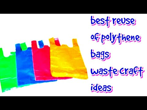 polythene bag craft reuse ideas (2018)  | best out of waste | waste craft ideas | be crafty