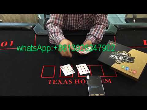 hidden button camera to read invisible playing cards